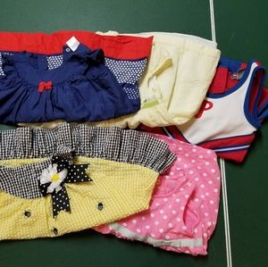 Bundle of 5 dresses for 12M to 24M